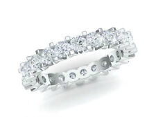 3.30ct Diamante Redondo Shared U-Prong Alianza Anillo de Banda 10k Oro Gh I1