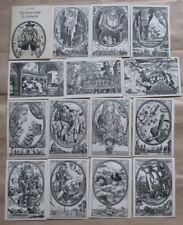 16 Child Postcards Set Pc card Russian Gulliver Swift Children Fairy tale Story