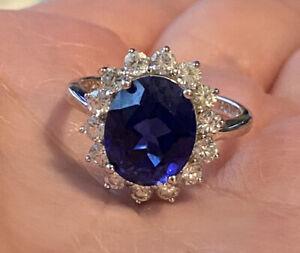 Princess Di/Kate Middleton Engagement Ring STERLING Replica by Bradford Exchange