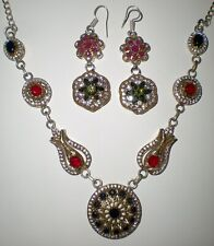 TURKISH SILVER NECKLACE AND EARRING SET
