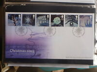 UK 2003 CHRISTMAS ICE SET 6 STAMPS FDC FIRST DAY COVER