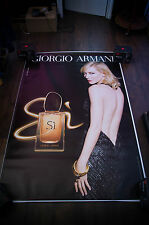 ARMANI SI CATE BLANCHETT B 4x6 ft Bus Shelter Original Celebrity Fashion Poster