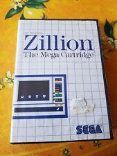 Sega Master System Spiel Zilloin OVP + Anleitung