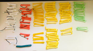 82 Vtg Curl Swing Arm Hard Plastic Perm Rods Different Sizes