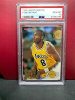 1996 NBA Hoops Sheets KOBE BRYANT Rookie RC HOF PSA 10 GEM MINT POP 132
