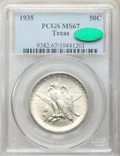 1935 P PCGS CAC MS67 Texas Independence Centennial Commemorative Half Dollar