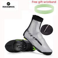 RockBros Cycling Shoe Cover Warm Fleece Waterproof Winter Overshoes PU Protector