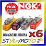 KIT 6 CANDELE NGK BKR7EKC PORSCHE 911 GT2 996 3.6 340kW M96.70S 2001
