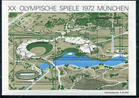 Bund Block 7 postfrisch Olympische Spiele München 1972 BRD 723 - 726 MNH