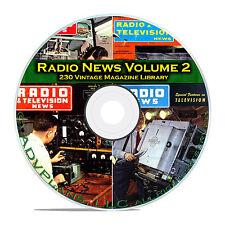 Radio & TV News, Electronics World, Vol 2, 230 Classic OTR Magazines PDF DVD B83