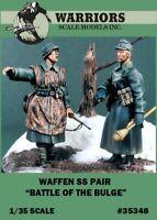 Warriors 1:35 Waffen SS Pair Battle of the Bulge - 2 Resin Figures Kit #35348