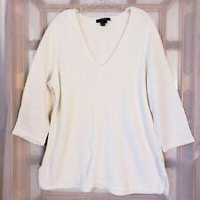 Lauren Ralph Lauren Women's Sz 2X Pullover V-neck Knit Tunic Sweater 3/4 Sleeve