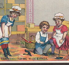 Shoe Salesman Likes Victorian Christian Girls Cross Tobin Advertising Trade Card