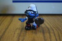 Smurfs Baseball Catcher Smurf Vintage Figure Toy Figurine 1981 Peyo