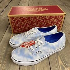 Vans Women's 7.5 Authentic Tie Dye Palace Blue Skate Shoes New With Box