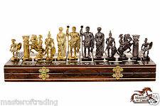 Luxury SPARTAN Wooden Chess Set SENATOR Chessboard 40x40cm & Weighted Pieces !!!