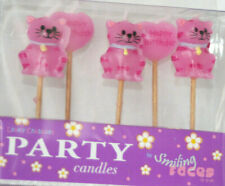 Pink CAT - Birthday Candles - pack of 5 - Brand New
