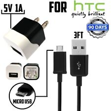 5V 1A Wall Charger - For HTC P310 TCU2 U250 Droid DNA 6435LVW - Micro USB cable