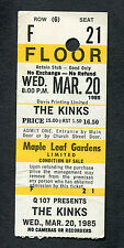 1985 The Kinks concert ticket stub Maple Leaf Gardens Toronto Come Dancing
