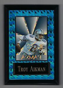 "Vintage 1994-1995 6.5"" x 4.5"" Card Plaque Troy Aikman Dallas Cowboys #4"