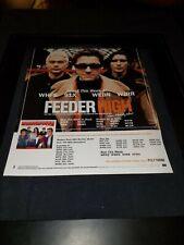 Feeder High Rare Original Radio Promo Poster Ad Framed!