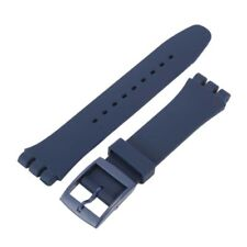 Chic Silicone Rubber Waterproof Sport Wrist Watch Band Strap 17mm19mm 20mm
