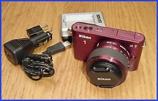 Nikon 1 J2 RED Mirrorless 10.1MP Digital Camera with 10-30mm VR Lens