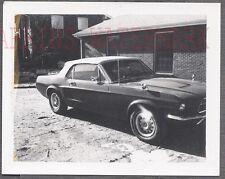 Vintage Car Polaroid Photo 1967 Ford Mustang Convertible Automobile 762715