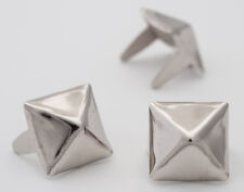 10mm silver pyramid studs for clothing - Bag of 100 - StudsAndSpikes 3/8 inch