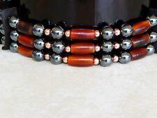 Native American Bone Choker Hematite Stones Copper Beads Pow Wow Regalia