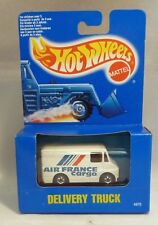 HotWheels Boxed Blue Card Delivery Truck Air France Cargo Black Wall Wheels