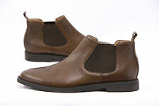.NWOB Ralph Lauren Polo Mens 100%Leather Brown Waterbury Chelsea Boots Sz 14D US