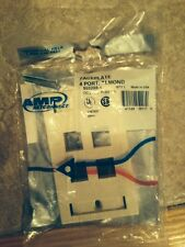 AMP NETCONNECT 558088-1 Faceplate-Lot of 25 Pieces