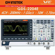 Oscilloscopio digitale GW Instek GDS-2204E, 4 canali, 200MHz, 1 GSa/S 10M 1,75ns