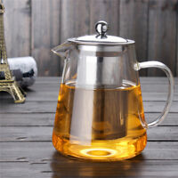 Heat Resistant Glass Teapot with Strainer Filter Infuser Tea Pot 450/ 750/ 950ml