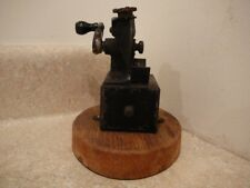 ANTIQUE US AUTOMATIC PENCIL SHARPENER CO MOUNTED ON WOODEN BASE PAT 1906-1908