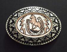 SOUTHWEST HORSE HORSESHOE COPPER BELT BUCKLE 17161 new western belt buckles