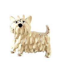 Dog Brooch Westie Cute Presented In Luxury Gift Box