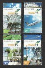 SINGAPORE 2008 CHANGI AIRPORT TERMINAL 3 COMP. SET OF 4 STAMPS MINT MNH UNUSED