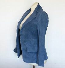 Randolph Duke Leather Jacket Blazer Coat BRAND NEW Suede Leather Blue Womens 4