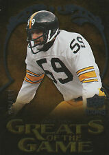 2009 UPPER DECK ICONS #GG-JH JACK HAM GREATS OF THE GAME STEELERS HOF 244/450