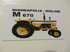 MINNEAPOLIS MOLINE M-670 Fridge/tool box magnet