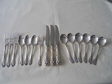 Northumbria Sterling Normandy Rose Flatware 16 Pcs