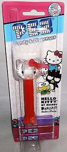 HELLO KITTY Crystal Clear Head Pez Dispenser By Sanrio  [Carded]