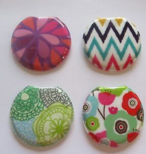 "Woman's ""Fash"" Flashlight-Set of 4-round pretty colorful designs light weight #2"