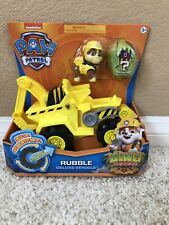 Paw Patrol DINO RESCUE Rubble Deluxe Rev Up Vehicle & Figure Nick Jr