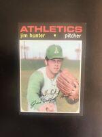 """1971 TOPPS #45 JIM """"CATFISH"""" HUNTER HOF OAK A's— SHARP💥*** (wph)"""