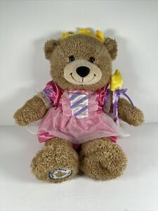 Build-A-Bear Workshop Bear W/ Pink Fairy Suit Plush Teddy Tan Brown Beige Wand