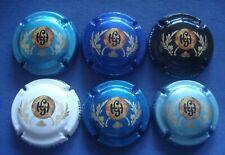 Série de 6 nouvelles capsules de champagne GOUTORBE H. numérotées/500ex