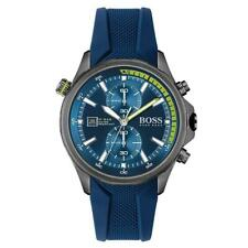 Hugo Boss Blue Silicone Band Men's Chrono Watch - 1513821